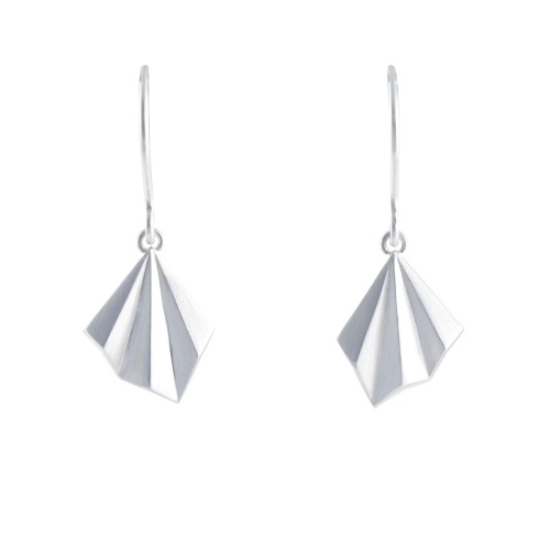 Pleated Hook Earrings by Alice Barnes