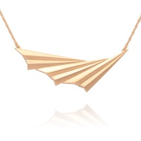 Pleated Gold Vermeil Wave Necklace