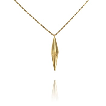 Shard Gold Vermeil Single Drop Necklace
