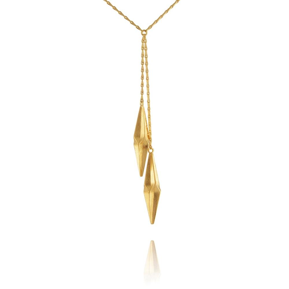 Shard Gold Vermeil Double Drop Necklace