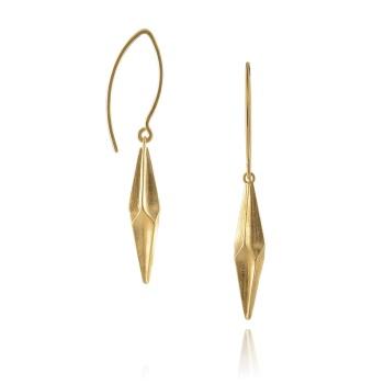 Shard Gold Vermeil Drop Earrings