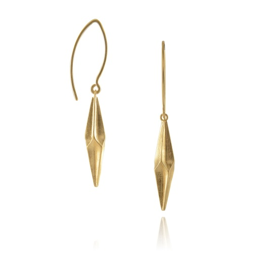 Shard Gold Vermeil Drop Earrings by Alice Barnes