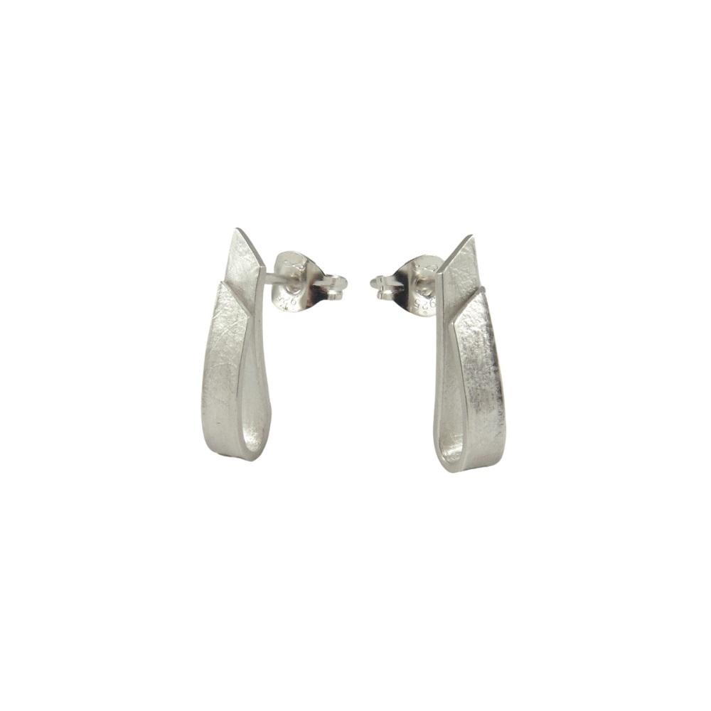 FoldedCurved Studs by Alice Barnes Jewellery