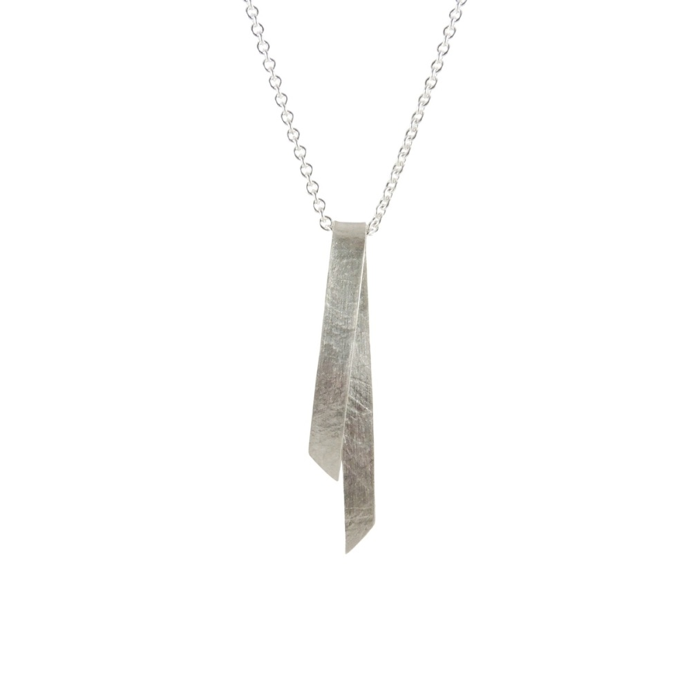 Folded Silver Single Pendant