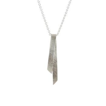 Folded Silver Single Pendant