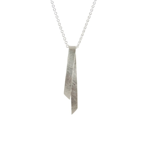 Long Folded Pendant by Alice Barnes Jewellery