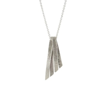 Folded Silver Wing Pendant