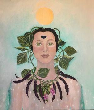 Seed Art Gift Card - Blue Shackamaxon Bean Goddess Card