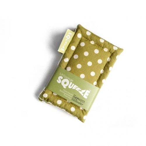 Unsponge Squeeze green polka dot