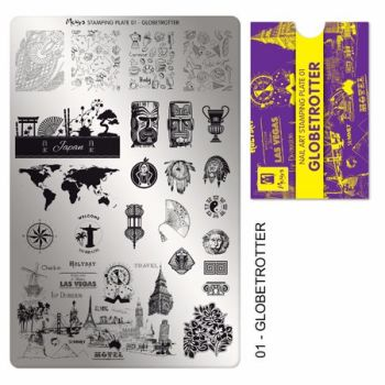 Stamping Plate 01 Globetrotter