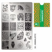 Stamping Plate 04 Animalistic