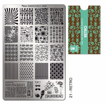 Stamping Plate 21 Retro