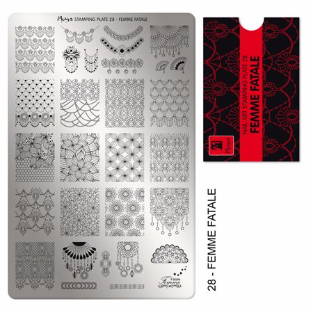 Stamping Plate 28 Femme Fatale