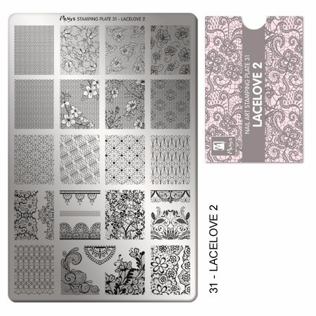 Stamping plate 31 Lacelove 2
