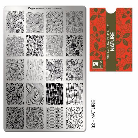 Stamping plate 32 Nature