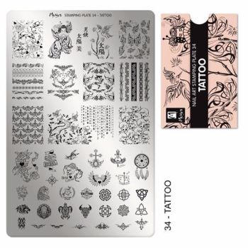 Stamping plate 34 Tattoo