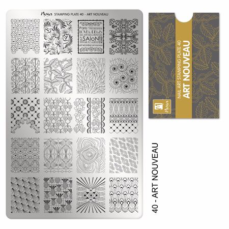 Stamping plate 40 Art Nouveau