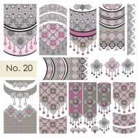 Water nail art stickers 20