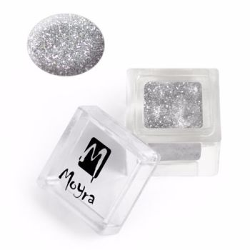 Coloured Acrylic Glitter collection 106  Silver Shimmer 3.5g