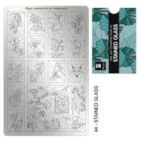 Stamping Plate 44 Stained Glass