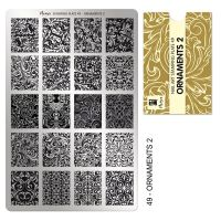 Stamping Plate 49 Ornaments no2