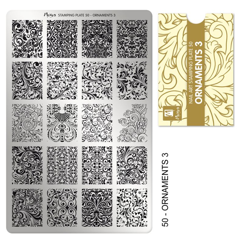 Stamping Plate 50 Ornaments 3