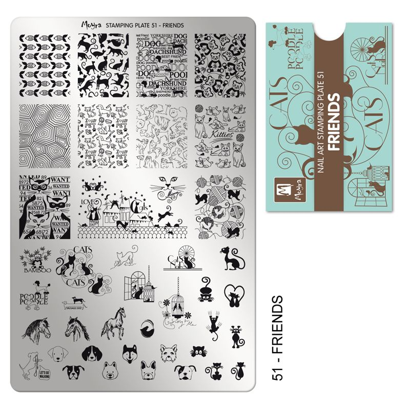 Stamping Plate 51 Friends