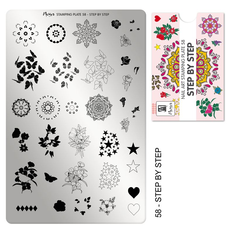 Stamping Plate 58 - Step by step