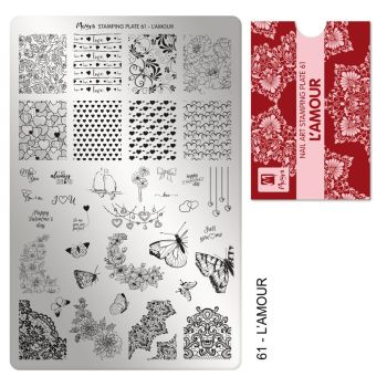 Stamping plate 61 - L'Amour