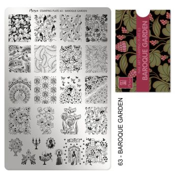 Stamping plate 63 - Baroque Garden