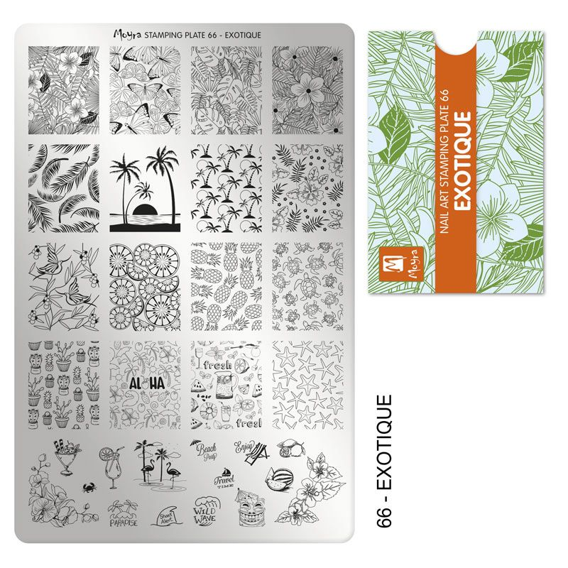 Stamping plate 66 - Exotique