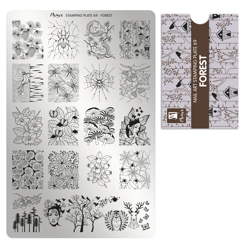 Stamping Plate 69 Forest