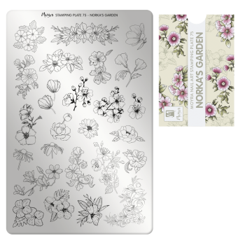 Stamping Plate 75 Norka's Garden