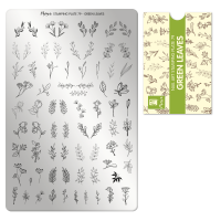 Stamping Plate 79 Green Leaves