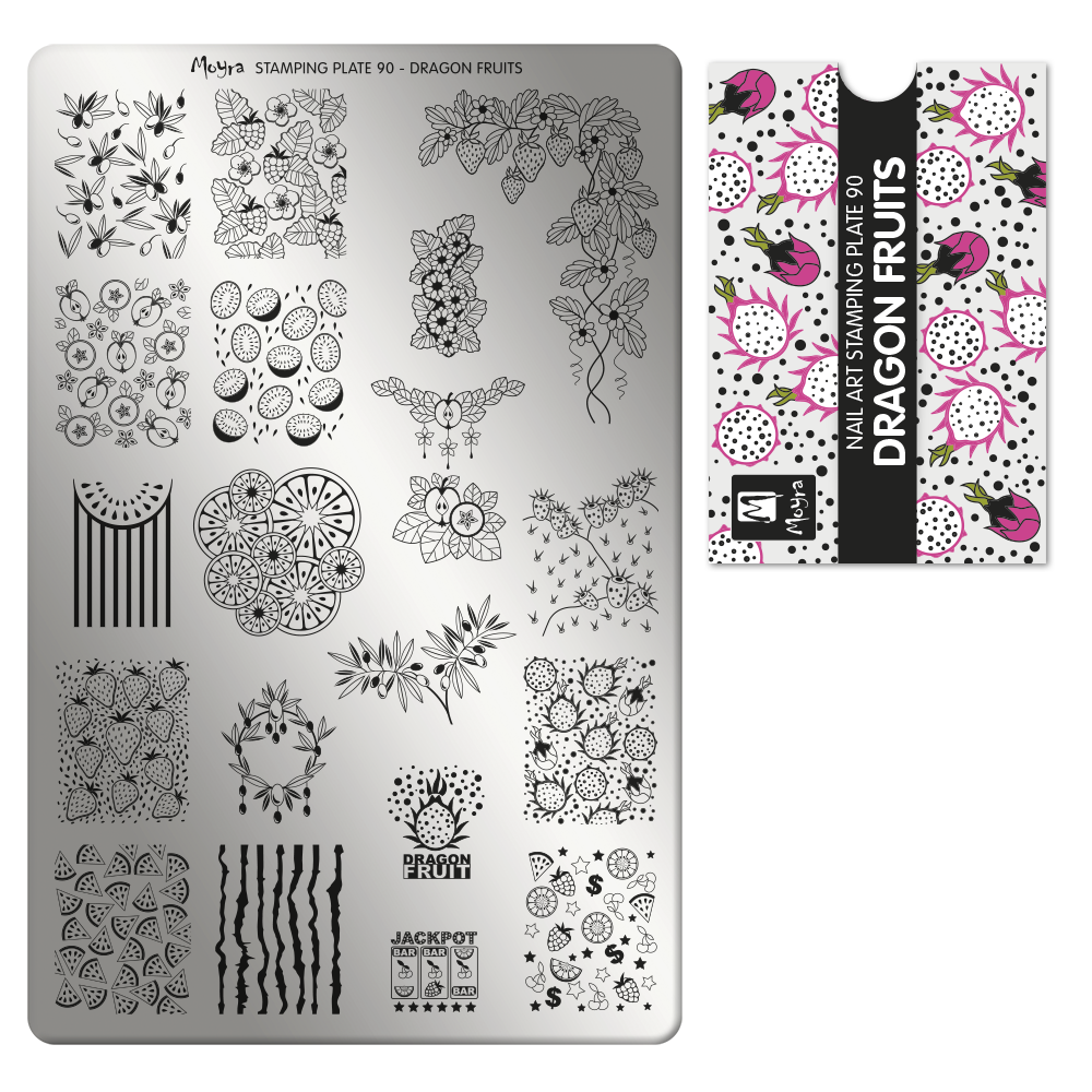 Stamping plate 90 Dragon Fruits