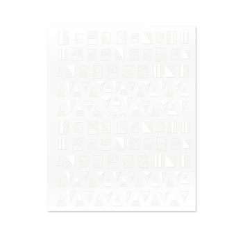 Self Adhesive Nail Art Stickers 01 White