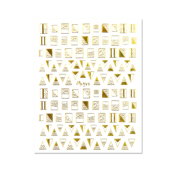 Self Adhesive Nail Art Stickers 04 Gold