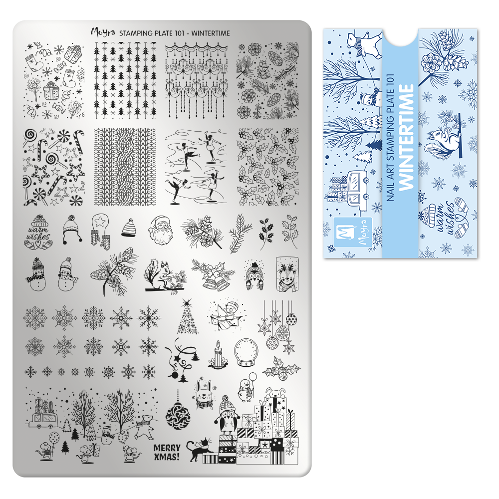 Stamping Plate 101 Fabric Wintertime