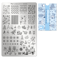 Stamping Plate A101  Wintertime