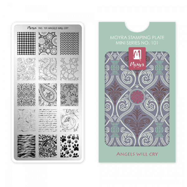 Moyra Mini Stamping Plate 101 - Angels will Cry