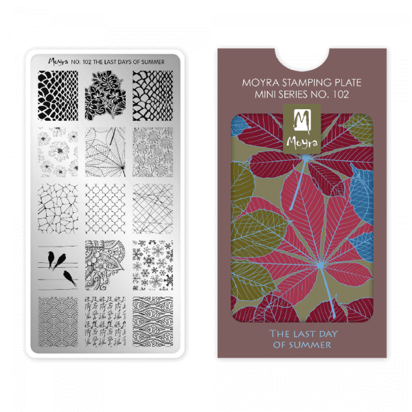 Moyra Mini Stamping Plate 102 - The Last Day Of Summer