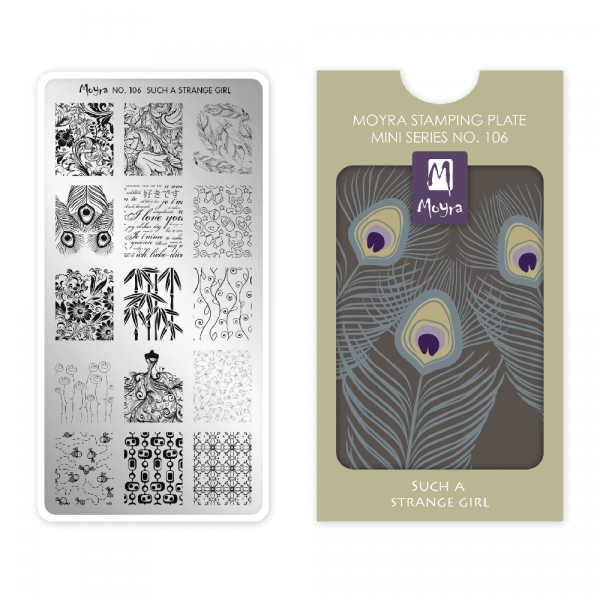 Moyra Mini Stamping Plate 106 - Such A Strange Girl