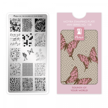 Moyra Mini Stamping Plate 108 - Sounds Of Your World