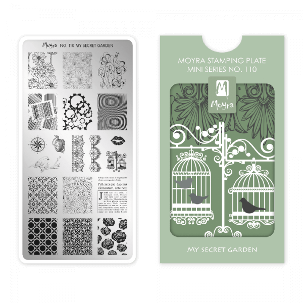 Moyra Mini Stamping Plate 110 - My Secret Garden