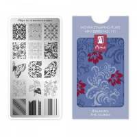 Moyra Mini Stamping Plate 111 - Breaking The Silence