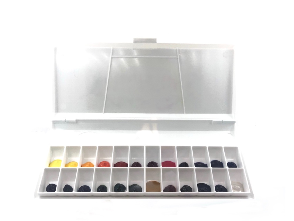 Watercolour Palette with 24 colours