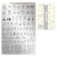 Stamping Plate A102 Fine Lines