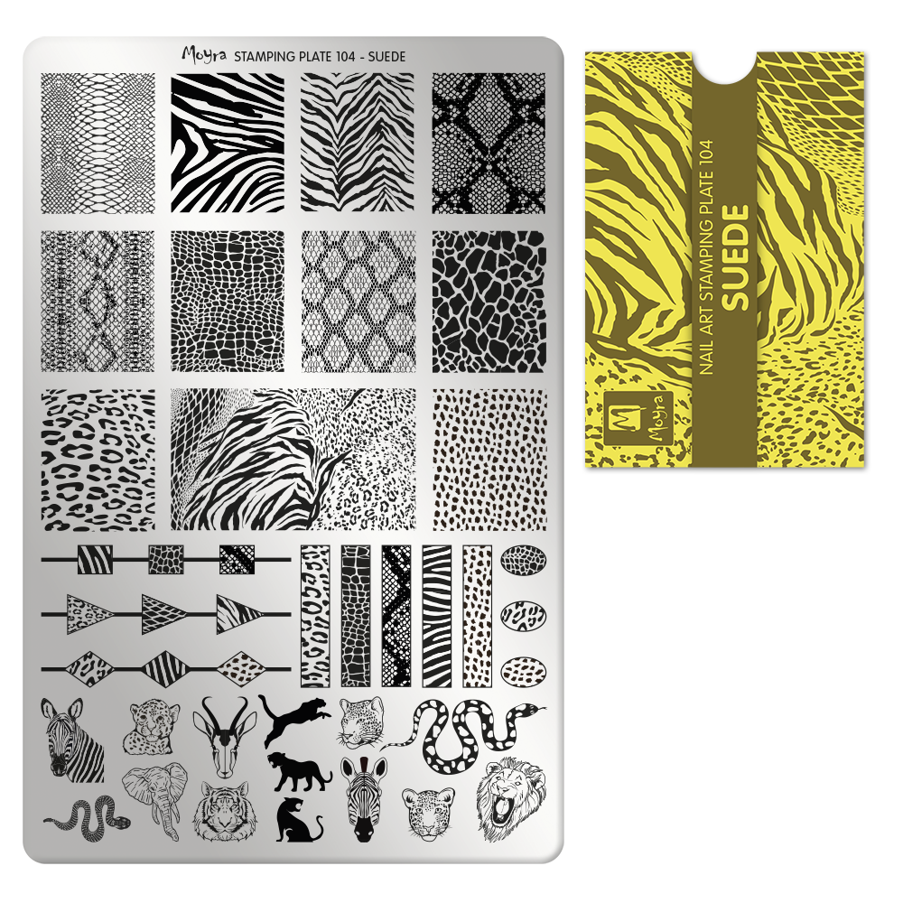 Stamping Plate A104 Suede