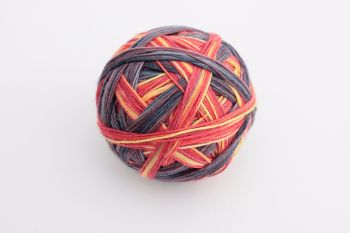 The Mountain's on Fire - Dyed to Order - Self Striping sock