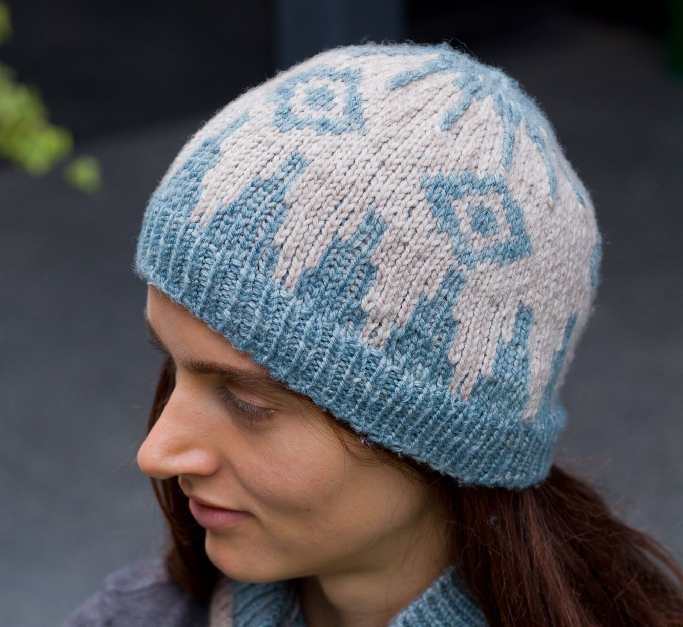 Backgammon Stranded Colourwork Hat